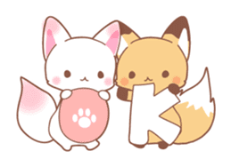 Two fox sticker #6522664
