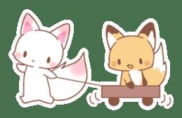 Two fox sticker #6522670