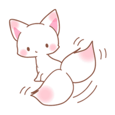 Two fox sticker #6522677