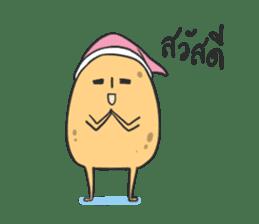 sleepy potatoes sticker #6523384
