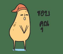 sleepy potatoes sticker #6523385