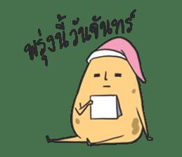 sleepy potatoes sticker #6523388