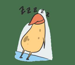 sleepy potatoes sticker #6523396