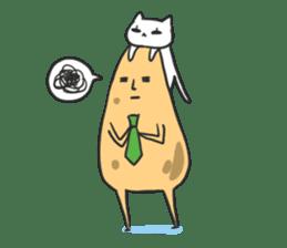 sleepy potatoes sticker #6523398