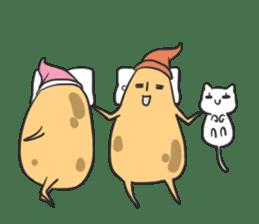sleepy potatoes sticker #6523411