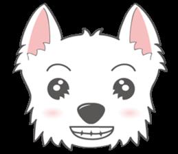 I LOVE West Highland White Terrier part4 sticker #6532267