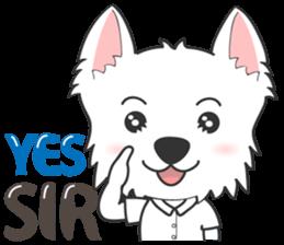 I LOVE West Highland White Terrier part4 sticker #6532274