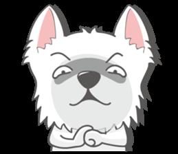 I LOVE West Highland White Terrier part4 sticker #6532277