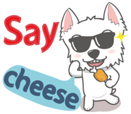 I LOVE West Highland White Terrier part4 sticker #6532278