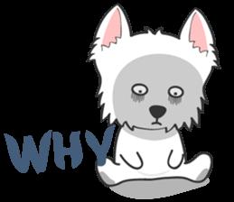 I LOVE West Highland White Terrier part4 sticker #6532285