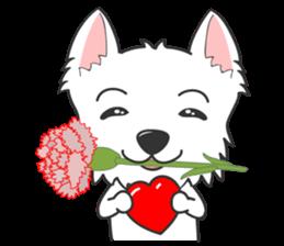 I LOVE West Highland White Terrier part4 sticker #6532296