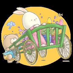 Cute bear and rabbit 2 by Torataro
