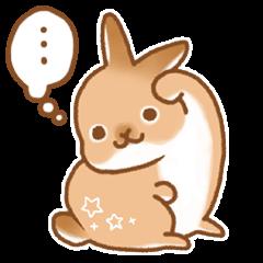 japanese bunny sticker (silent ver.)