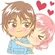 Love couple pack : sweet romance 2 sticker #6535230
