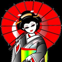 Japanese dancing girl  Geisha