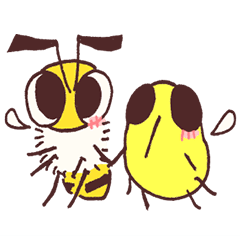 Honey bee & Bee fly