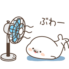 Sticker of a cute seal summer