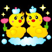 สติ๊กเกอร์ไลน์ Tomo's Duck Ahiru-chan 2 (English)