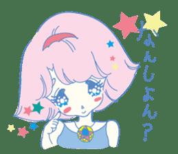 Hiromi-She talks Hiroshima's dialect. sticker #6547346
