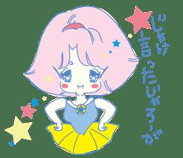Hiromi-She talks Hiroshima's dialect. sticker #6547351