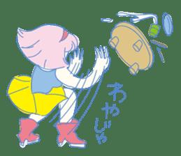 Hiromi-She talks Hiroshima's dialect. sticker #6547359