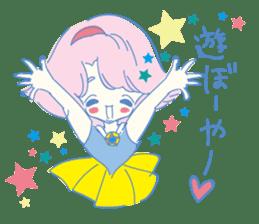 Hiromi-She talks Hiroshima's dialect. sticker #6547373