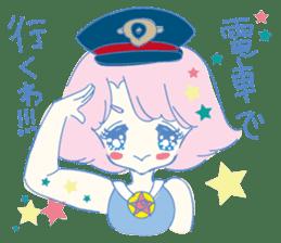 Hiromi-She talks Hiroshima's dialect. sticker #6547380