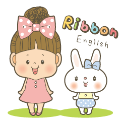 Let's talk a ribbon-cyan<English>