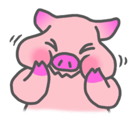 Hungry pig sticker #6560068