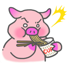 Hungry pig sticker #6560072