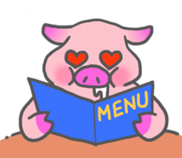 Hungry pig sticker #6560079