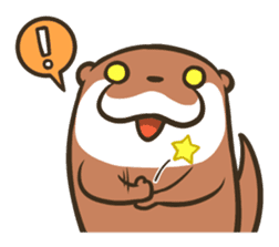 Kotsumetti of Small-clawed otter 04 sticker #6562724
