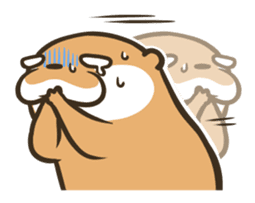 Kotsumetti of Small-clawed otter 04 sticker #6562733