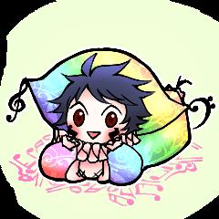 Minimum clown Sticker