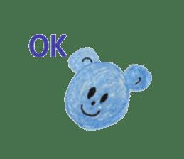 Colorful  animals (English-Japanese) sticker #6590747