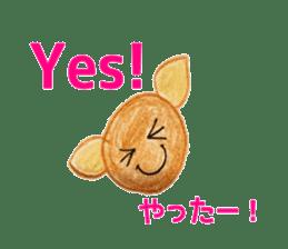 Colorful  animals (English-Japanese) sticker #6590750