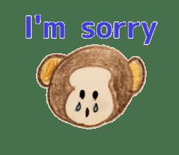 Colorful  animals (English-Japanese) sticker #6590757