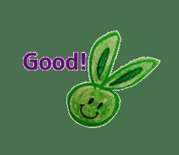 Colorful  animals (English-Japanese) sticker #6590763