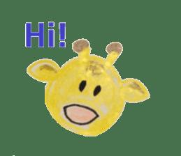 Colorful  animals (English-Japanese) sticker #6590768