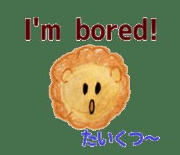 Colorful  animals (English-Japanese) sticker #6590776