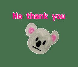 Colorful  animals (English-Japanese) sticker #6590778