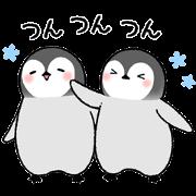 สติ๊กเกอร์ไลน์ Emperor penguin brothers 2