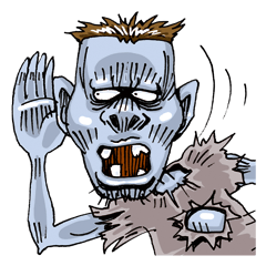Sticker of zombie 2