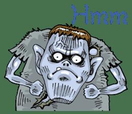 Sticker of zombie 2 sticker #6611104