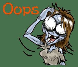 Sticker of zombie 2 sticker #6611134