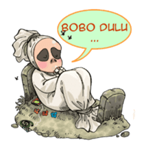 Mr. Pocong sticker #6616990
