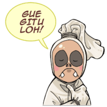 Mr. Pocong sticker #6616995