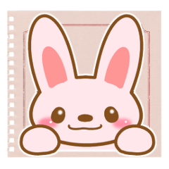 Sticker of Pink Rabbit