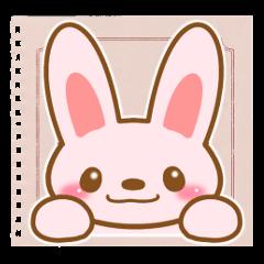 Sticker of Pink Rabbit