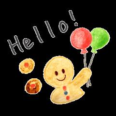 Kawaii Ginger breadman(English)